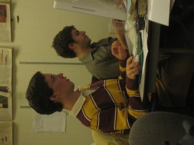 Matt and Dan working hard... OR HARDLY WORKING?